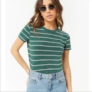 Forever 21 striped green top